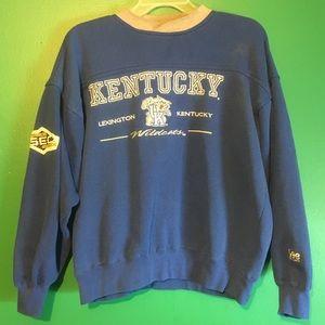 Kentucky Wildcats UK Vintage Crewneck Large